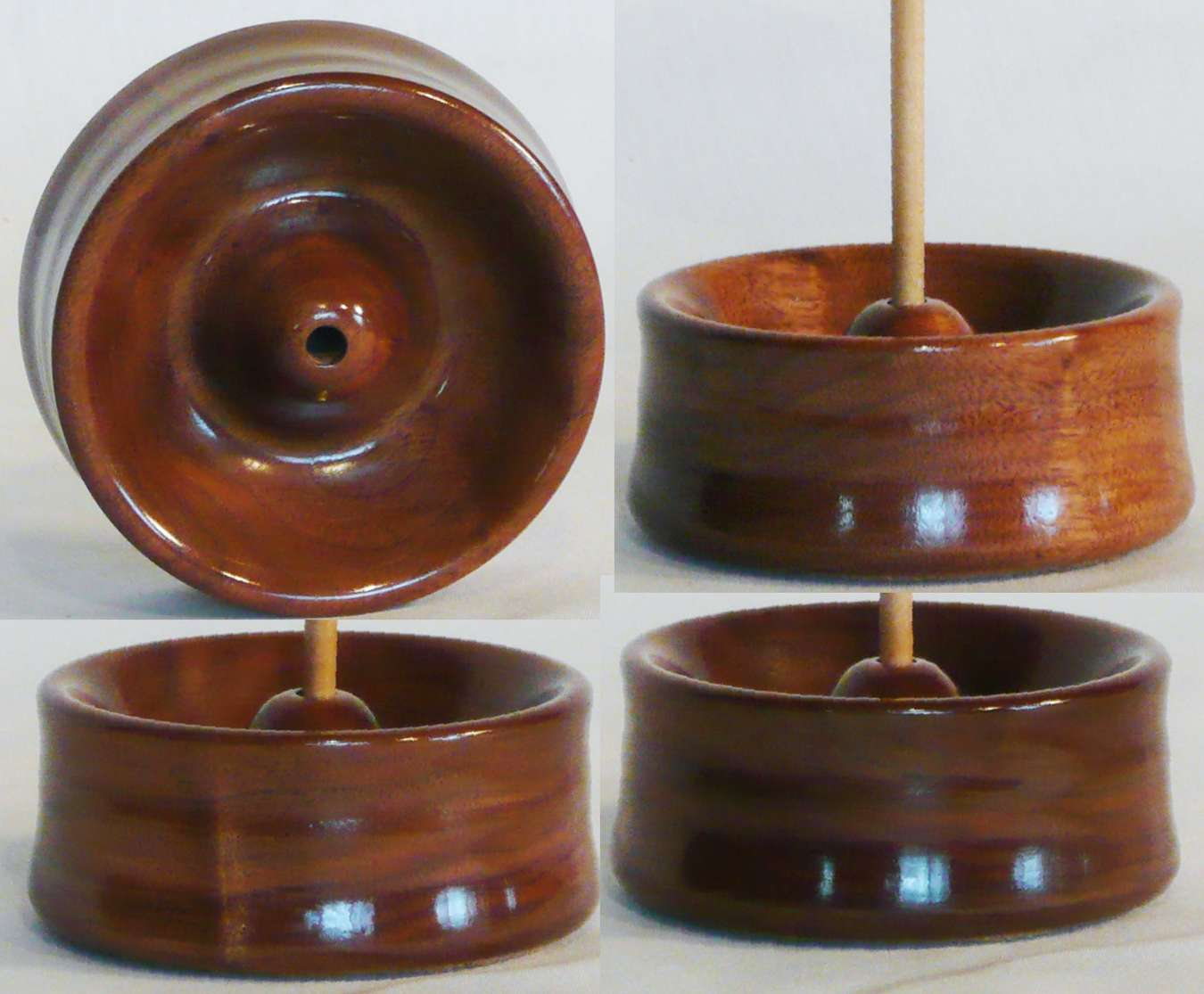 Walnut hand turned spindle stand by Cynthia Haney